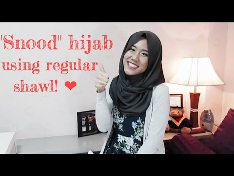 Snood hijab Tutorial Using Regular Shawl