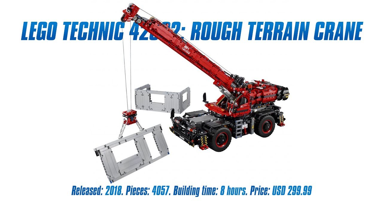Lego Technic 42082 Rough Terrain Crane In Depth Review Speed