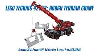 LEGO Technic 42082: Rough Terrain Crane In-depth Review & Speed Build [4K]