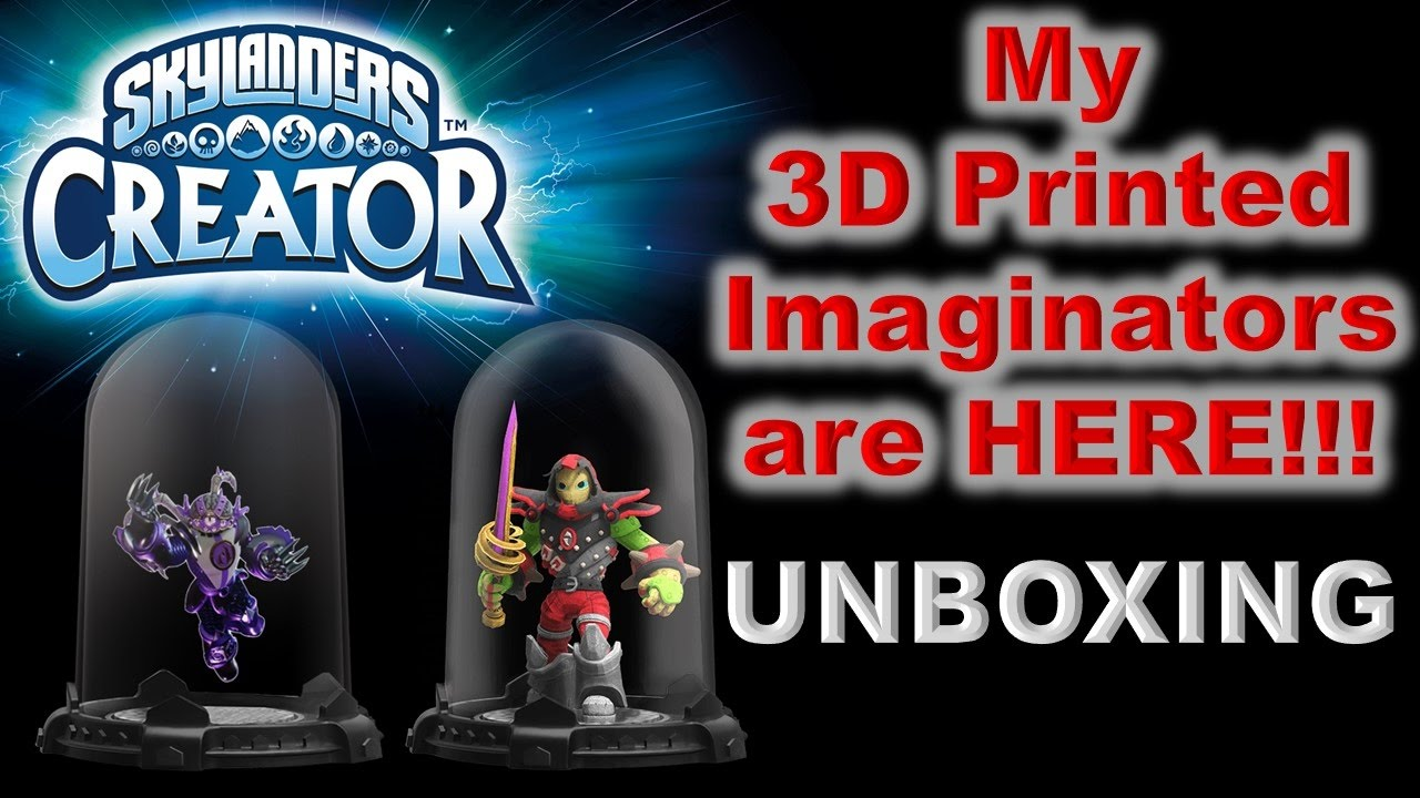my 3d printed skylanders imaginators are here youtube