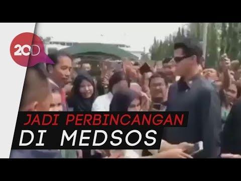 Ramai Video Aksi Paspampres Larang Pose 2 Jari di Depan Jokowi