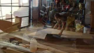 1977 fiberglass boat rebuild - transom rebuild 0001