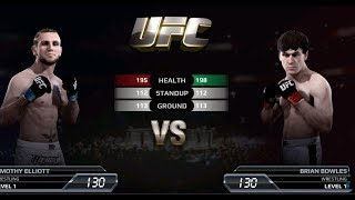 UFC EA Sports Boxing Timothy Elliott VS Brian Bowles Gameplay