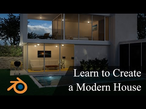 Create & Design a Modern 3D House in Blender Promo