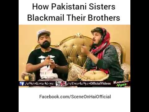 Sister blackmailed by brother