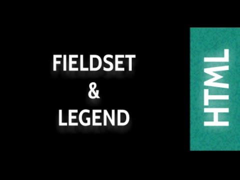 HTML Web Design Tutorials: HTML Fieldset and Legend Lesson 26