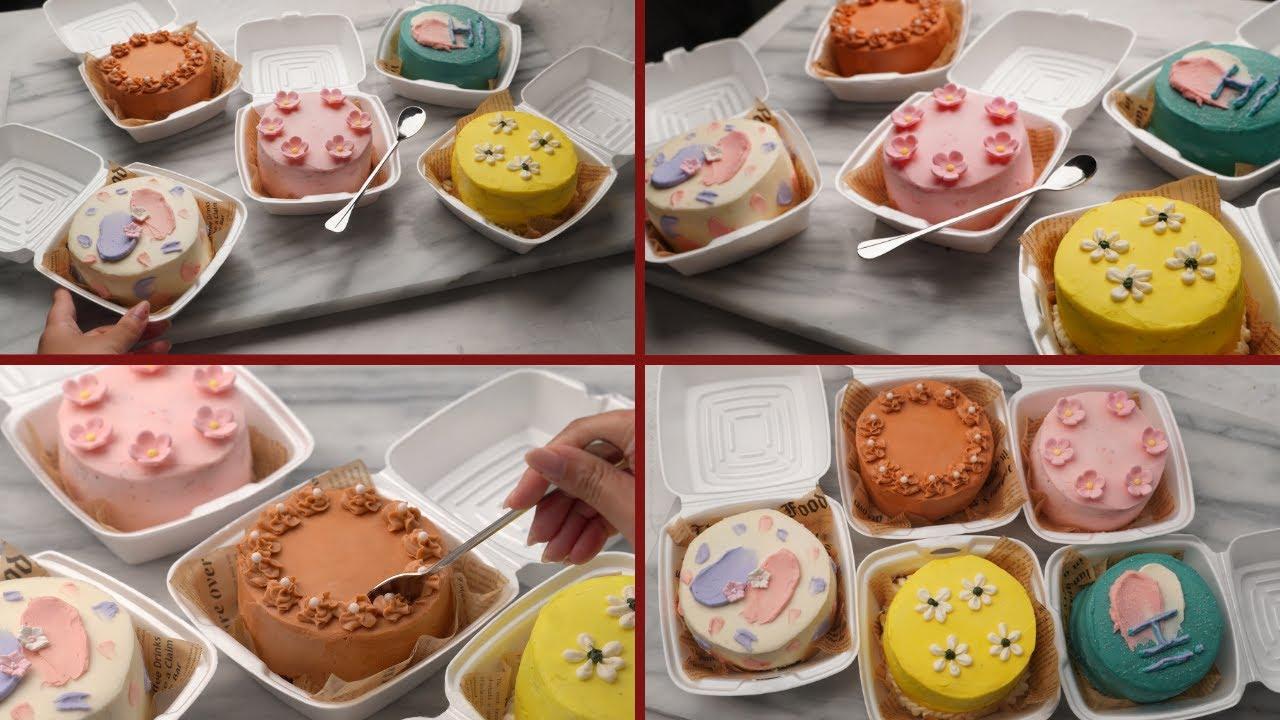 الكيكات الكورية 🎂 ترند كيكات العلب الصغيرة شكلهم وطعمهم أحلى من بعض!