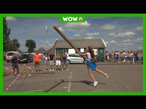 Kinderen testen gekke onbekende sporten