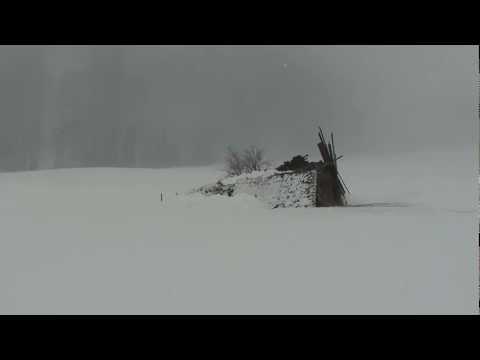 Hütteneinsturz in Au im Bregenzerwald