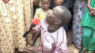Stomach Infrastructure: Mr. Ayodele Fayose blessed a Crippled Man in Ikoro-Ekiti, Ekiti State.