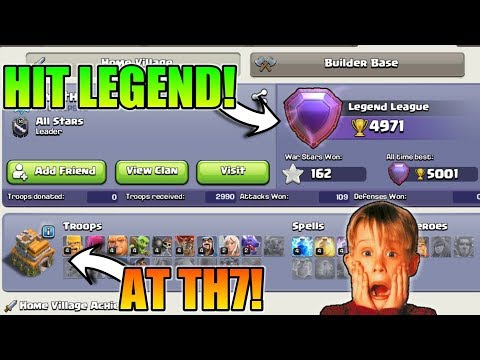 NEW WORLD RECORD : TH7 PLAYER IN LEGEND LEAGUE   HIGHEST PUSH IN TH7
