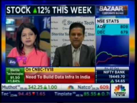 Sterlite Tech CEO Dr Anand Agarwal interacts with CNBC TV 18