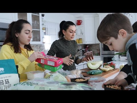 Семейная Дегустация - Пробуем Продукты из Корейского Магазина - Эгине - Семейный Влог - Heghineh
