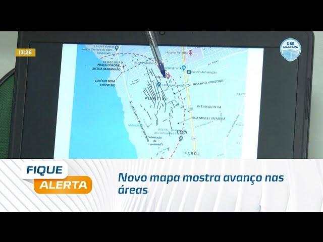 Rachaduras: Novo mapa mostra avanço nas áreas próximas a Avenida Fernandes Lima