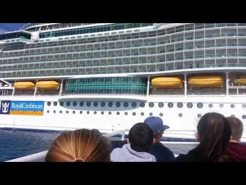 Royal Caribbean Freedom of the Seas Tender Boat Arrives at Gangway