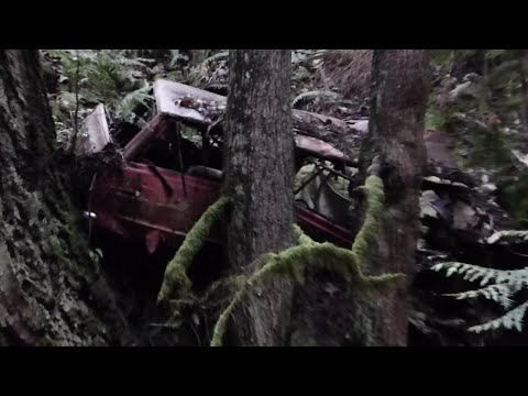 1960's Car Wreck Near Upper Falls at Cypress Creek in West Vancouver