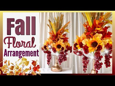 Fall Floral Centerpiece | Fall Home Decor | Dollar Tree DIY Fall Decor | Fall Floral Arrangement