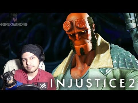 "Thumbnail: HELLBOY IS FINALLY HERE! - Injustice 2 ""Hellboy"" Gameplay REACTION! (Injustice 2 Hellboy DLC)"