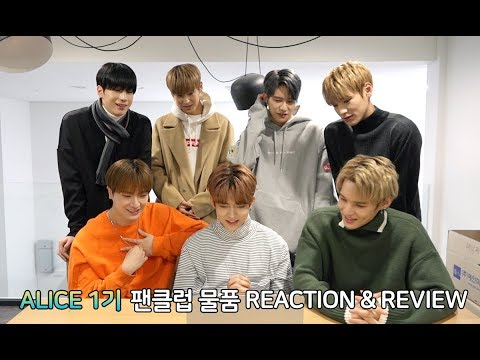 VICTON ALICE 1기 팬클럽 물품 UNBOXING REACTION & REVIEW