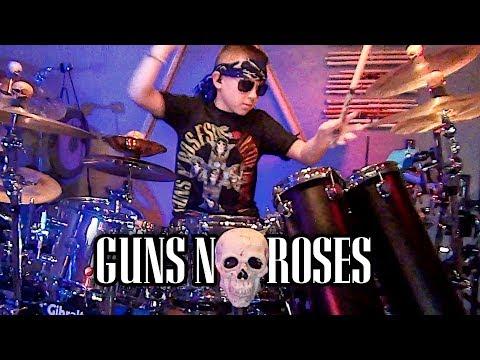 Appetite for Destruction – Guns N Roses – Drum Medley – Avery Drummer Molek – 10 year old Drummer