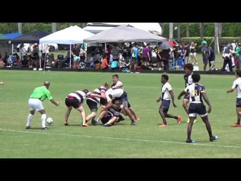 Tampa Krewe U19's Cameron Miller Scores after Stephen Walters Run at FL HS State Semi's - 4/16/2016
