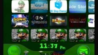 Custom Wii Menu - Luigi