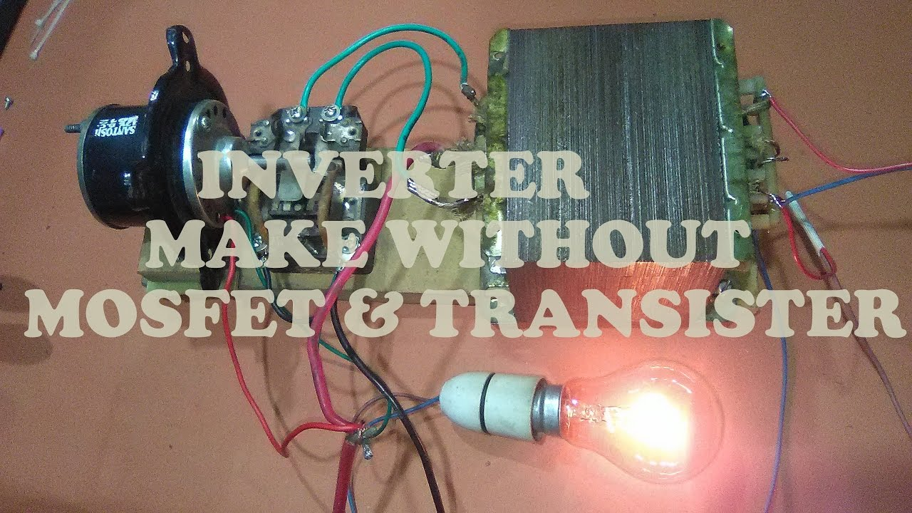 Make Inverter Without Using Mosfet Transister Yt 7 Youtube 500w Power From 12v To 110v 220v Circuit Diagram Premium