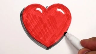 How to Draw a Heart - A Heart Drawing Lesson | MAT