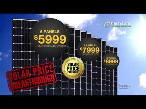Solar Price Breakthrough - Harrisons Massive Solar Sale