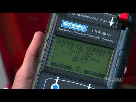 Midtronics EXP-800: Testing A Battery (HD)