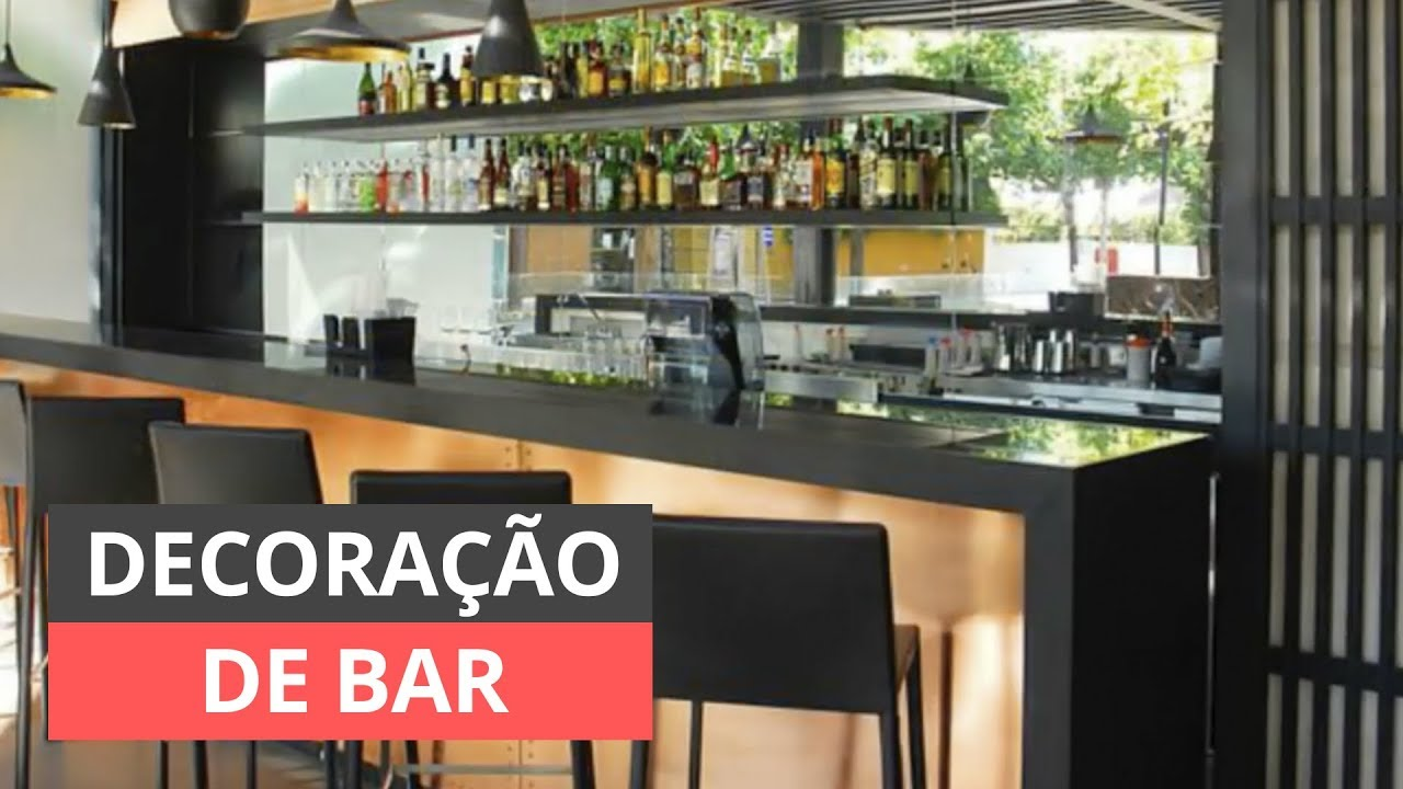 Decoraç u00e3o de Bar Ideias e Inspirações YouTube # Decoração De Home Bar