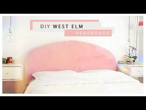 Easy Blush Velvet Headboard ~so soft~
