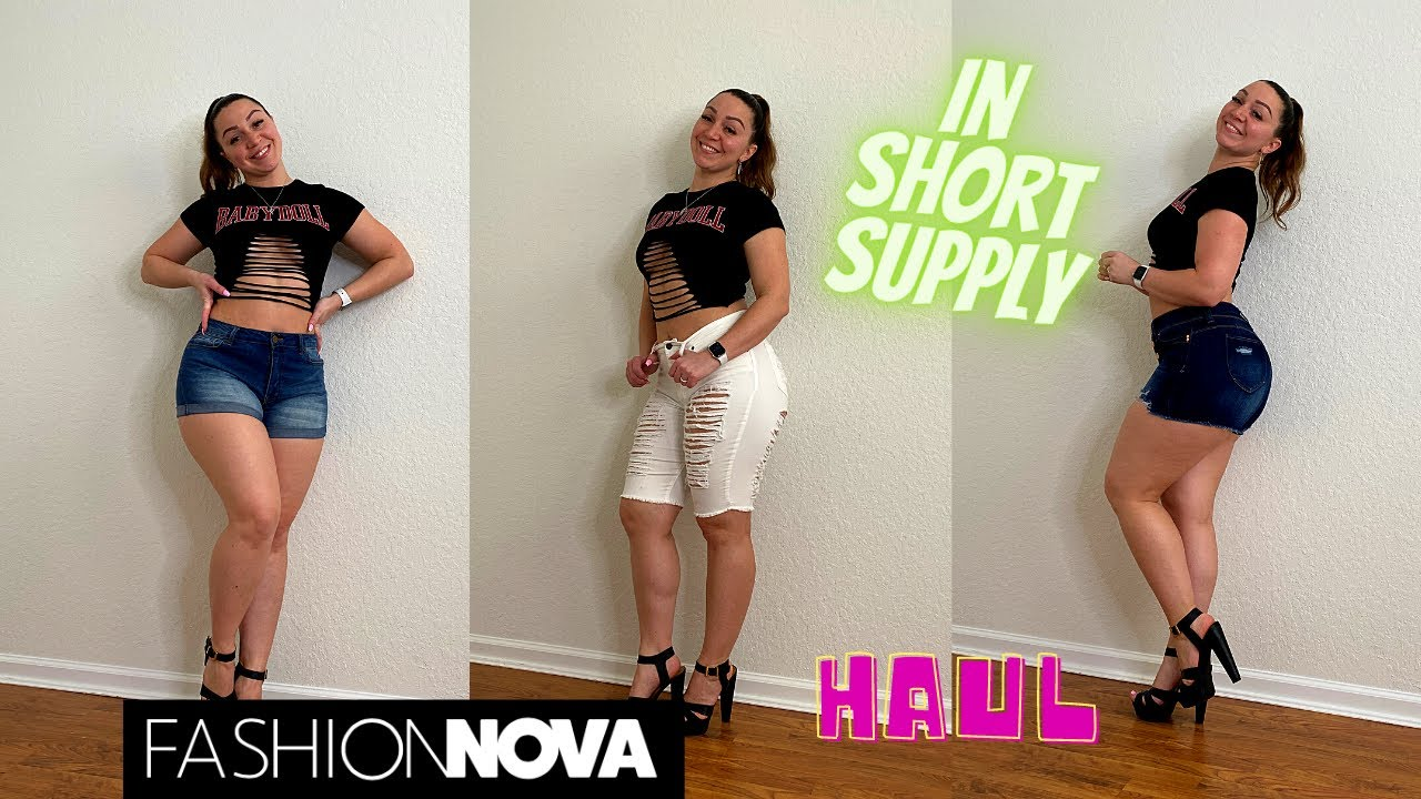 CAN'T GO WRONG WITH DENIM SHORTS   FASHION NOVA TRY ON HAUL