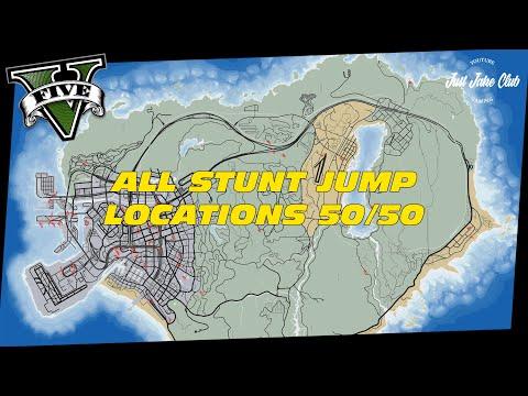 GTA 5 ONLINE: ALL STUNT JUMP LOCATIONS 50/50 TUTORIAL (FULL GUIDE)