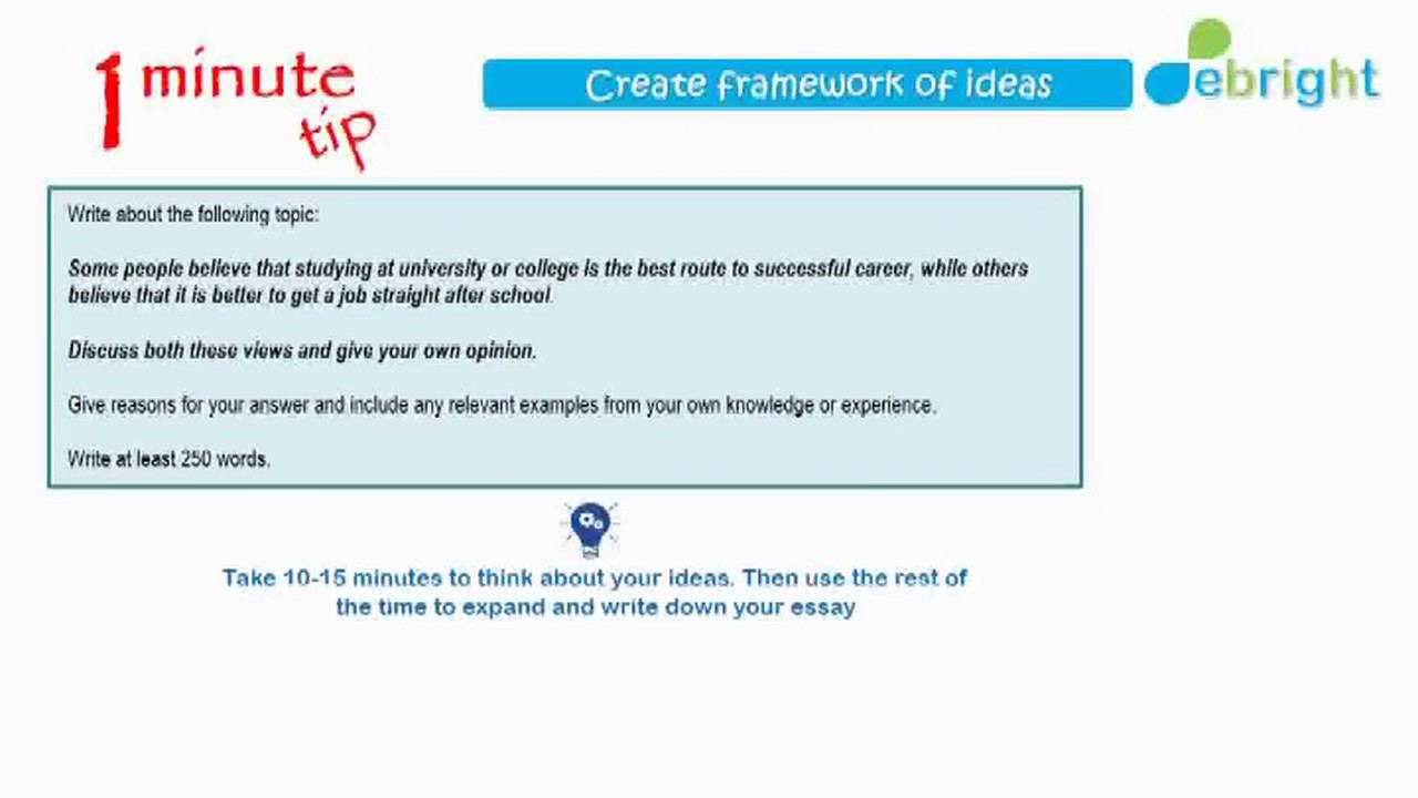minute tip ielts writing task  1 minute tip ielts writing task 2