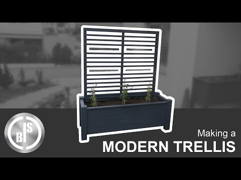 Making a simple, modern Trellis for my self made Planter Box