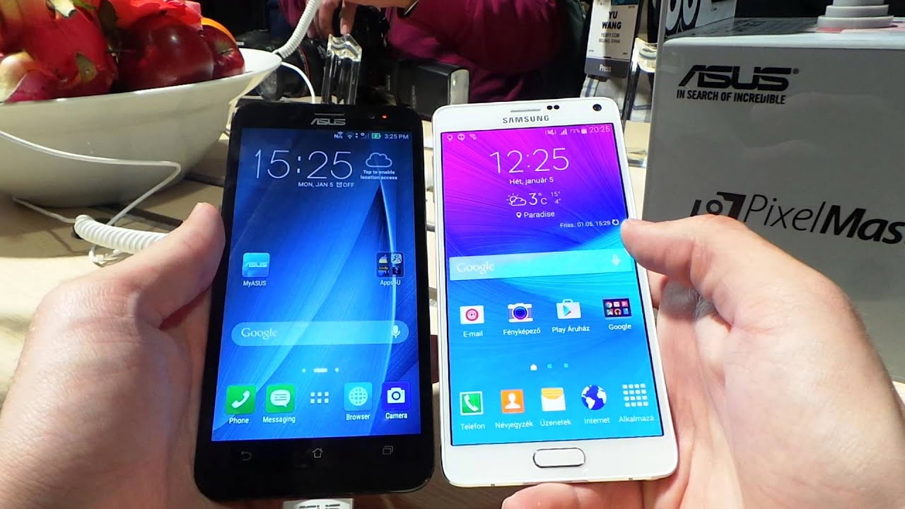 ASUS Zenfone 2 Vs Galaxy Note 4 Video