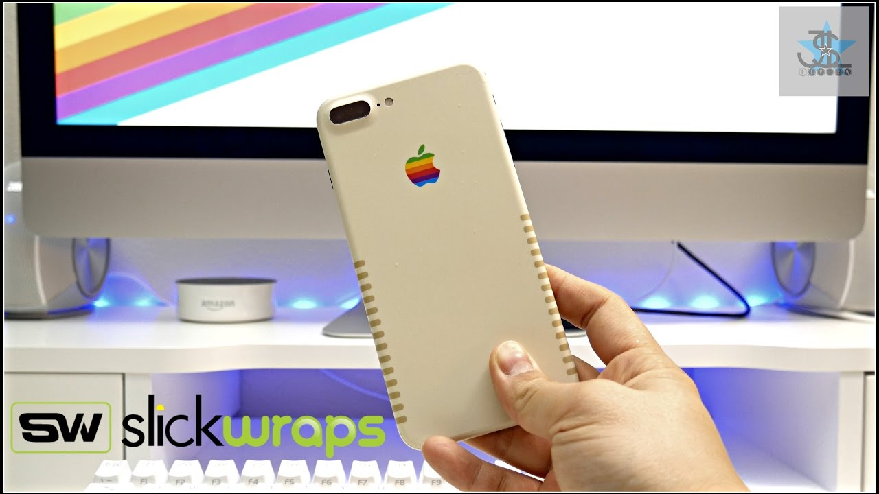 The Retro iPhone 7 Plus - Slickwraps Retro Apple Skin