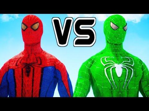 THE AMAZING SPIDER-MAN VS GREEN SPIDERMAN
