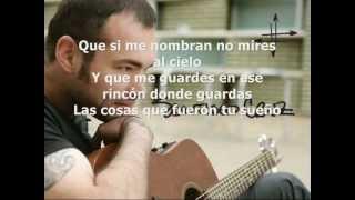 Desde Lejos (letra) Santiago Cruz