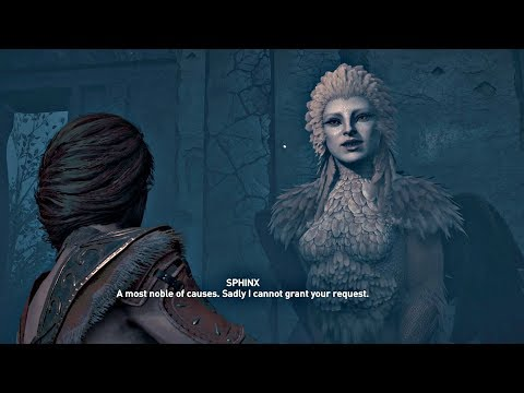 Assassin's Creed Odyssey - SPHINX Secret Legendary Boss (All Choice Outcomes) PS4 Pro