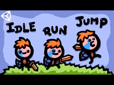 MAKING RUN, IDLE & JUMP 2D GAME ANIMATIONS - UNITY TUTORIAL thumbnail