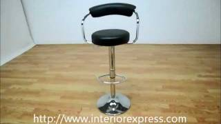 Interiorexpress Omicron Retro Black  Adjustable Swivel Bar Stool