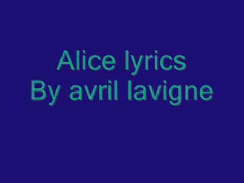 Alice lyric extended version  Avril Lavigne and download