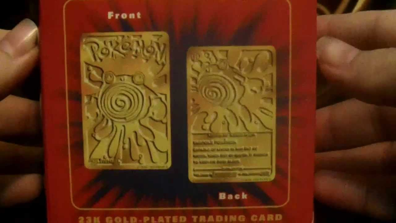 Opening A 23k Gold Plated Pokemon Card No 61 Poliwhirl