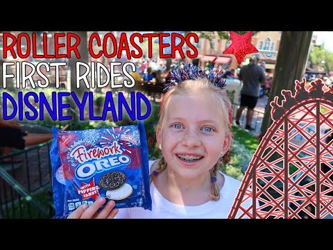 Michael's First Real Roller Coaster & Owen's First Ride Ever! 4th of July at Disneyland!! |