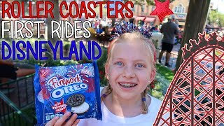 Michael's First Real Roller Coaster & Owen's First Ride Ever! 4th of July at Disneyland!!