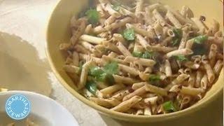 Whole Wheat Penne with Kalamata Olives and Lemon - Meatless Monday - Martha Stewart