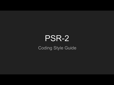 PHP, PSR 2: Coding Style Guide