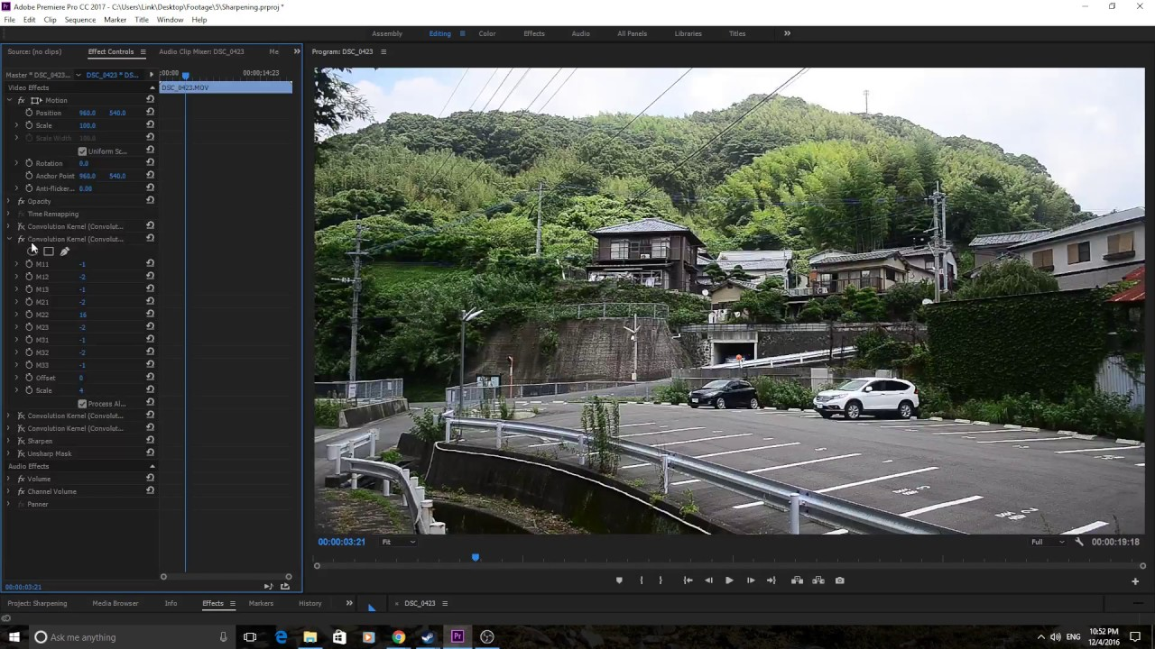 How to Sharpen Footage in Adobe Premiere Pro CC (2017)